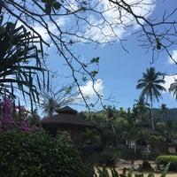 Photo taken at Malibu Beach Bungalows Koh Phangan by Alena P. on 4/20/2016