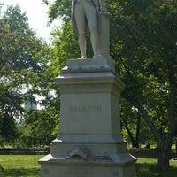 Photo taken at Alexander Hamilton Statue by Melissa on 6/25/2016