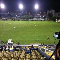 Photo taken at Estadio Don León Kolbowski - Club Atlético Atlanta by Martin V. on 4/10/2014