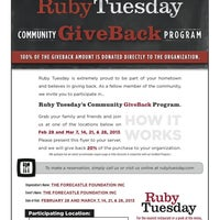 Photo taken at Ruby Tuesday by Brian F. on 3/16/2013