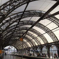 Photo taken at Dresden Hauptbahnhof by Azlina Y. on 9/26/2012
