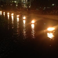 Photo taken at WaterFire Providence - Waterplace Park by MellyCupcakez on 8/11/2013