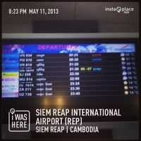 Photo taken at Siem Reap International Airport (REP) by Jimmy B. on 5/11/2013