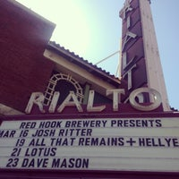 Photo taken at The Rialto Theatre by Teresa H. on 3/18/2013