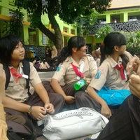 Photo taken at SMP Negeri 1 Malang by Novarani C. on 3/16/2013