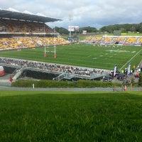 Photo taken at Mt Smart Stadium by Mariana W. on 7/28/2013