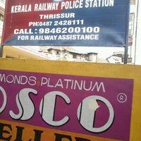 Photo taken at Thrissur Railway Station by Abhilash P. on 3/31/2013