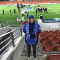 Photo taken at Waikato Stadium by Shazzzabella on 4/24/2015
