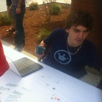 Photo taken at Hauke Courtyard by Eric B. on 4/20/2012