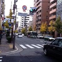Photo taken at 河原町仏光寺 交差点 by eg e. on 12/9/2011