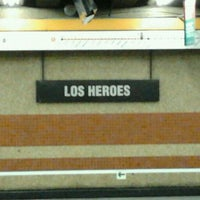 Photo taken at Metro Los Héroes by Raul B. on 3/8/2012