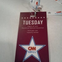 Photo taken at CNN Grill @ RNC (Tampa Bay Times Forum) by Ward B. on 8/29/2012