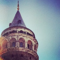 Photo taken at Galata Tower by ♛erdem t. on 8/25/2012
