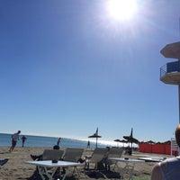 Photo taken at El Horno Beach Chiringuito by Vi on 2/1/2015