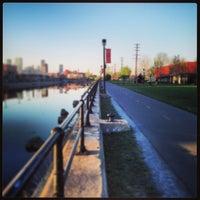 Photo taken at Esplanade du Centenaire, Canal Lachine by Montse S. on 5/4/2013