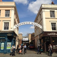 Photo taken at Greenwich Market by Jill S. on 4/22/2013