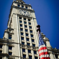 Photo taken at Wrigley Building by Jeffrey Z. on 8/29/2013