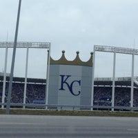 Photo taken at Kauffman Stadium by Jordan W. on 4/14/2013