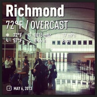 Photo taken at Concourse A - Richmond International Airport by Wilmar M. on 5/6/2013