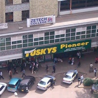 Photo taken at Tuskys Pioneer Supermarket by Dark A. on 8/8/2013
