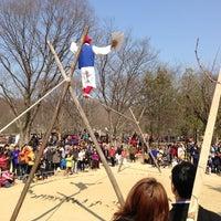 Photo taken at Korean Folk Village by Jungkee P. on 3/24/2013