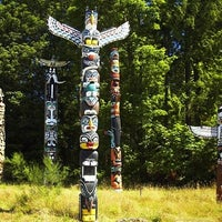 Photo taken at Totem Poles in Stanley Park by Jorge G. on 3/8/2013