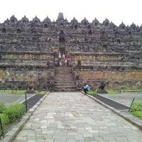Photo taken at Borobudur Temple by Flolady O. on 4/8/2013