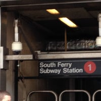 Photo taken at MTA Subway - South Ferry (1) by Jahjah R. on 4/3/2016