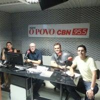 Photo taken at Rádio O POVO CBN Fortaleza FM 95.5 by Daniel Elias M. on 12/21/2012