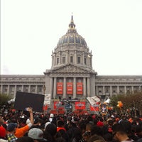 Photo taken at Civic Center Plaza by Lindsay E. on 10/31/2012