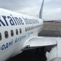 Photo taken at Boryspil International Airport (KBP) by Anastasiia G. on 4/16/2013