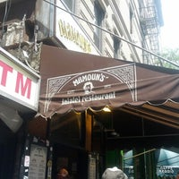 Photo taken at Mamoun's Falafel by Ben B. on 6/18/2012