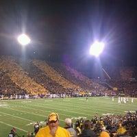 Photo taken at Kinnick Stadium by Lauren F. on 10/21/2012