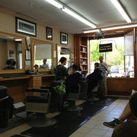 Photo taken at La Flamme Barber Shop by Bobbie C. on 5/18/2013