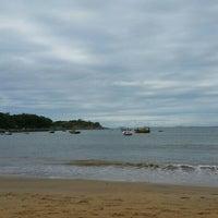 Photo taken at Praia Do Cemitério by Alan F. on 5/28/2016