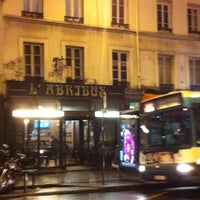 Photo taken at L'Abri-Bus by Renaud F. on 12/8/2014