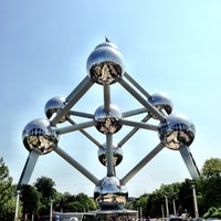 Photo taken at Atomium by Antoine C. on 7/9/2013