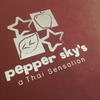 Photo taken at Pepper Sky's Thai Sensation by Greg B. on 1/19/2013