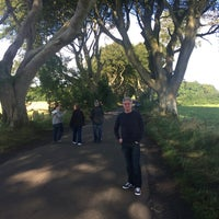 Photo taken at The Dark Hedges by Liam C. on 9/10/2016