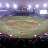 Photo taken at Tropicana Field by Mike P. on 4/4/2013