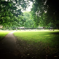 Photo taken at Grosvenor Square by Matthew P. on 8/7/2013