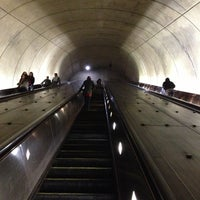 Photo taken at Tenleytown-AU Metro Station by Kevin K. on 12/1/2012