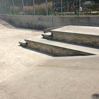 Photo taken at Tribeca Skate Park by Devrin C. on 7/20/2013