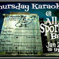 "Photo taken at All Sports Sports Bar by ""Cowboy"" Dan R. on 1/18/2013"