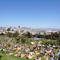 Photo taken at Mission Dolores Park by Mark Y. on 5/4/2013