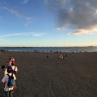 Photo taken at 旗津海水浴場 Cijin Beach by Crystal on 6/18/2016