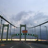 Photo taken at Delaware Memorial Bridge by Erlie P. on 7/28/2013