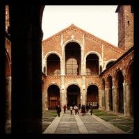 Photo taken at Basilica di Sant'Ambrogio by Tullio L. on 11/17/2012