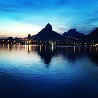 Photo taken at Lagoa Rodrigo de Freitas by Will A. on 2/4/2013