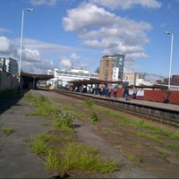 Photo taken at Salford Central Railway Station (SFD) by Matthew B. on 6/5/2015